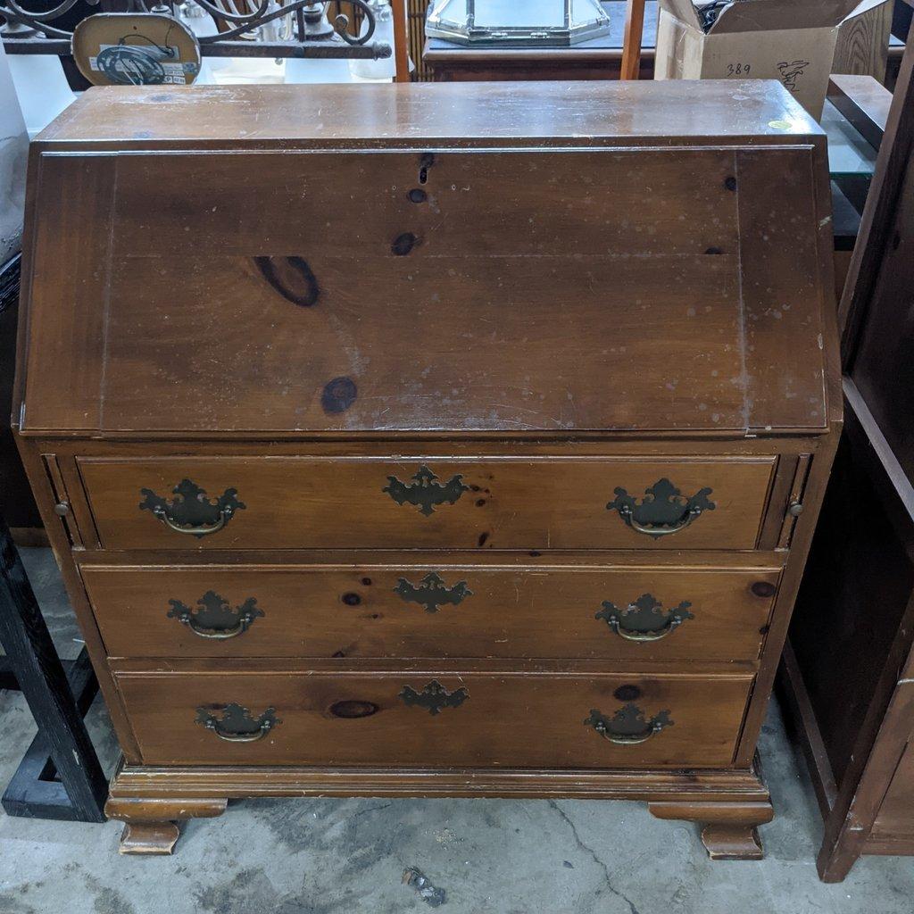 Vintage 4-Drawer Drop Front Secretary Desk