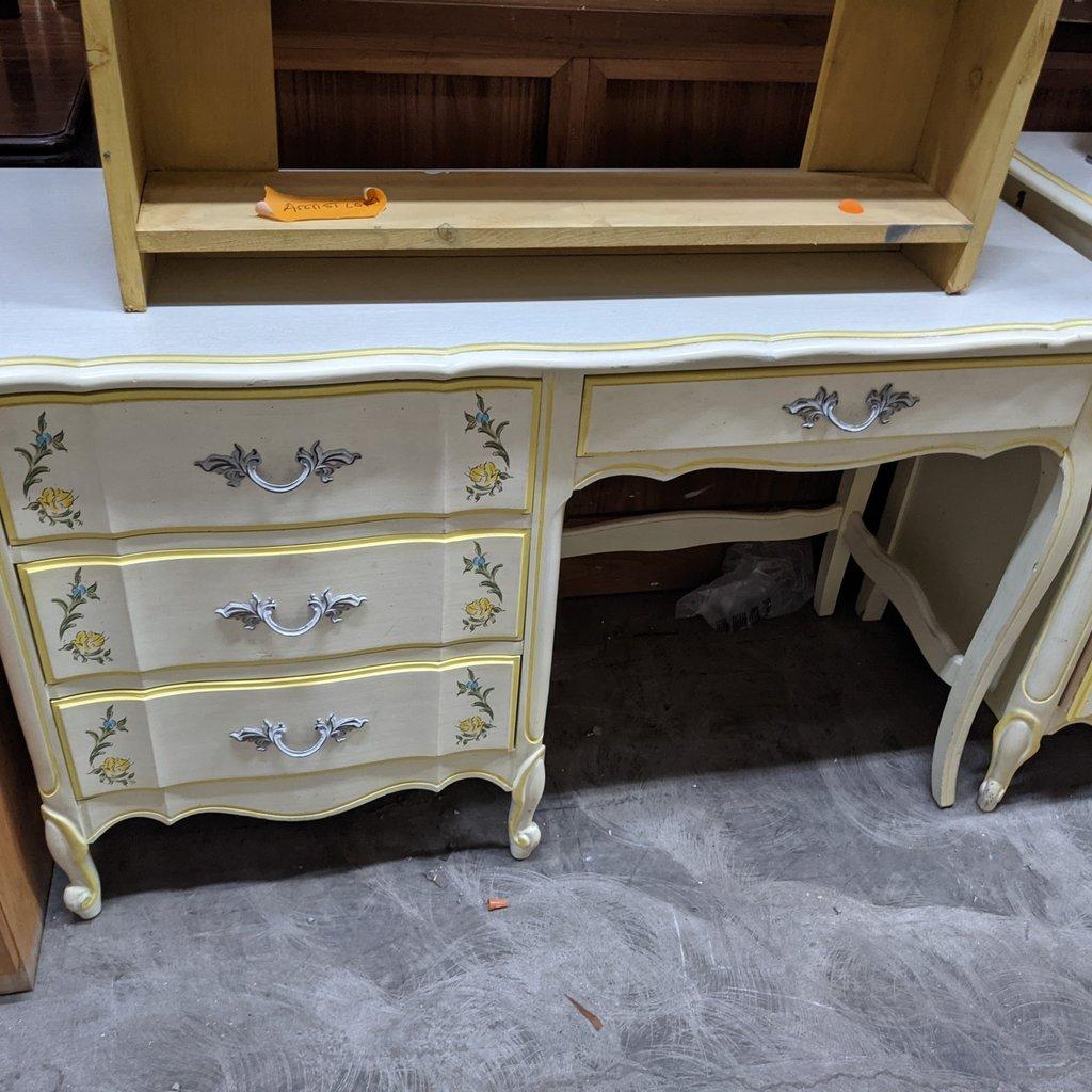 4 Drawer Floral Desk