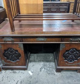 Asian Desk w/ Red Top