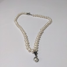 Vintage Pearl & Ruby Necklace