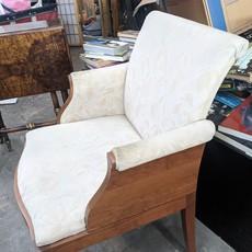 Upholstered White Armchair