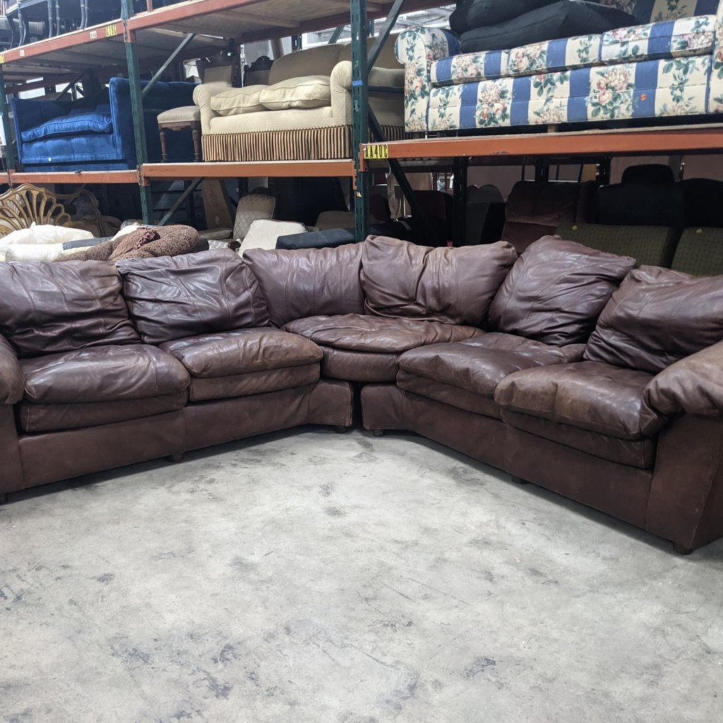L-Shaped Leather Sectional Sofa