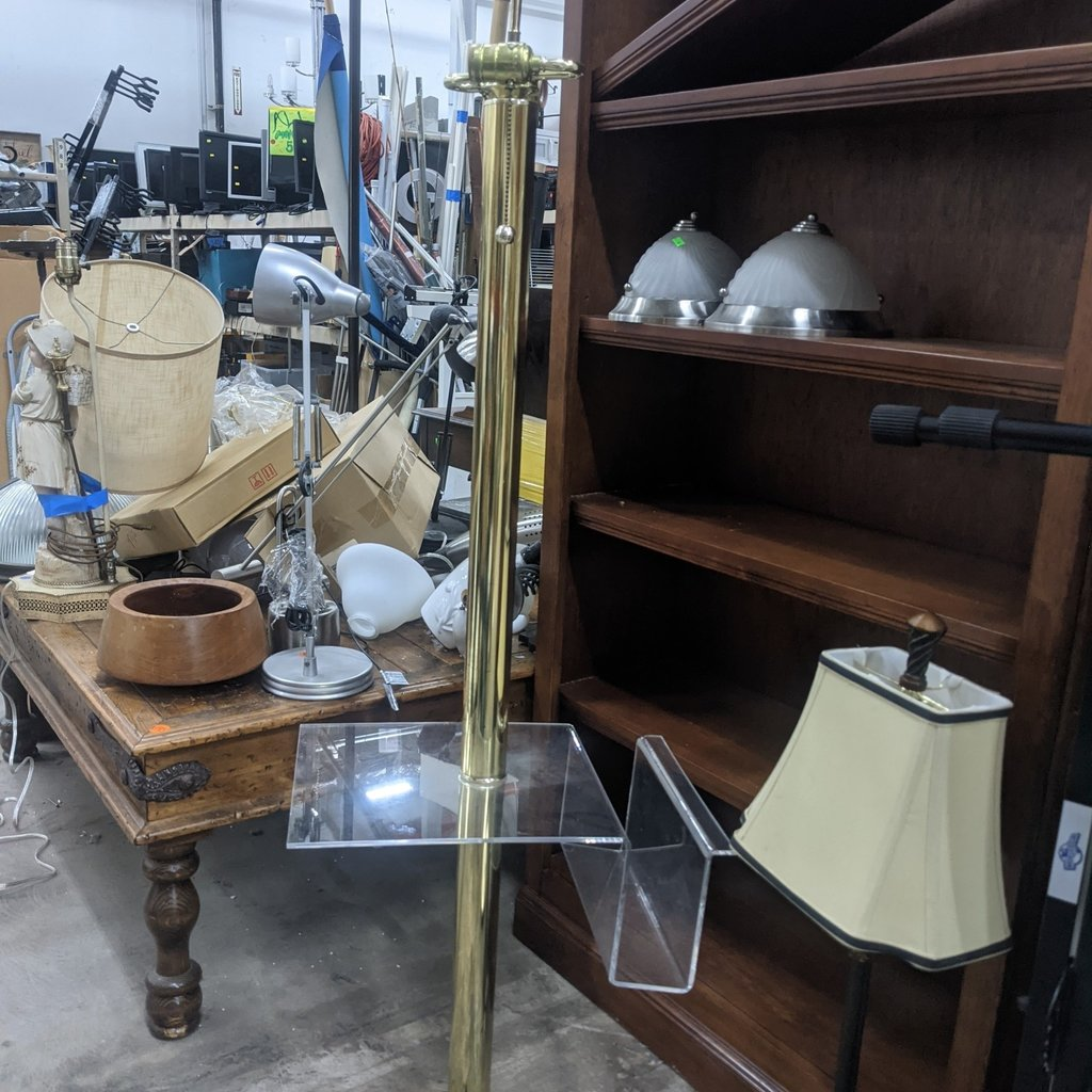 Tall Lamp w/ Side Table