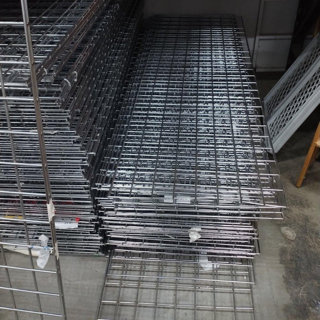 Chrome Gridwall Panels