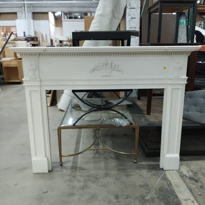 Low Profile Wooden Mantle