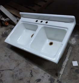 Vintage Cast Iron Double Kitchen Sink