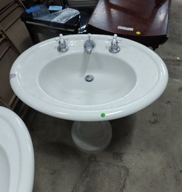 Vintage Oval Porcelain Sink