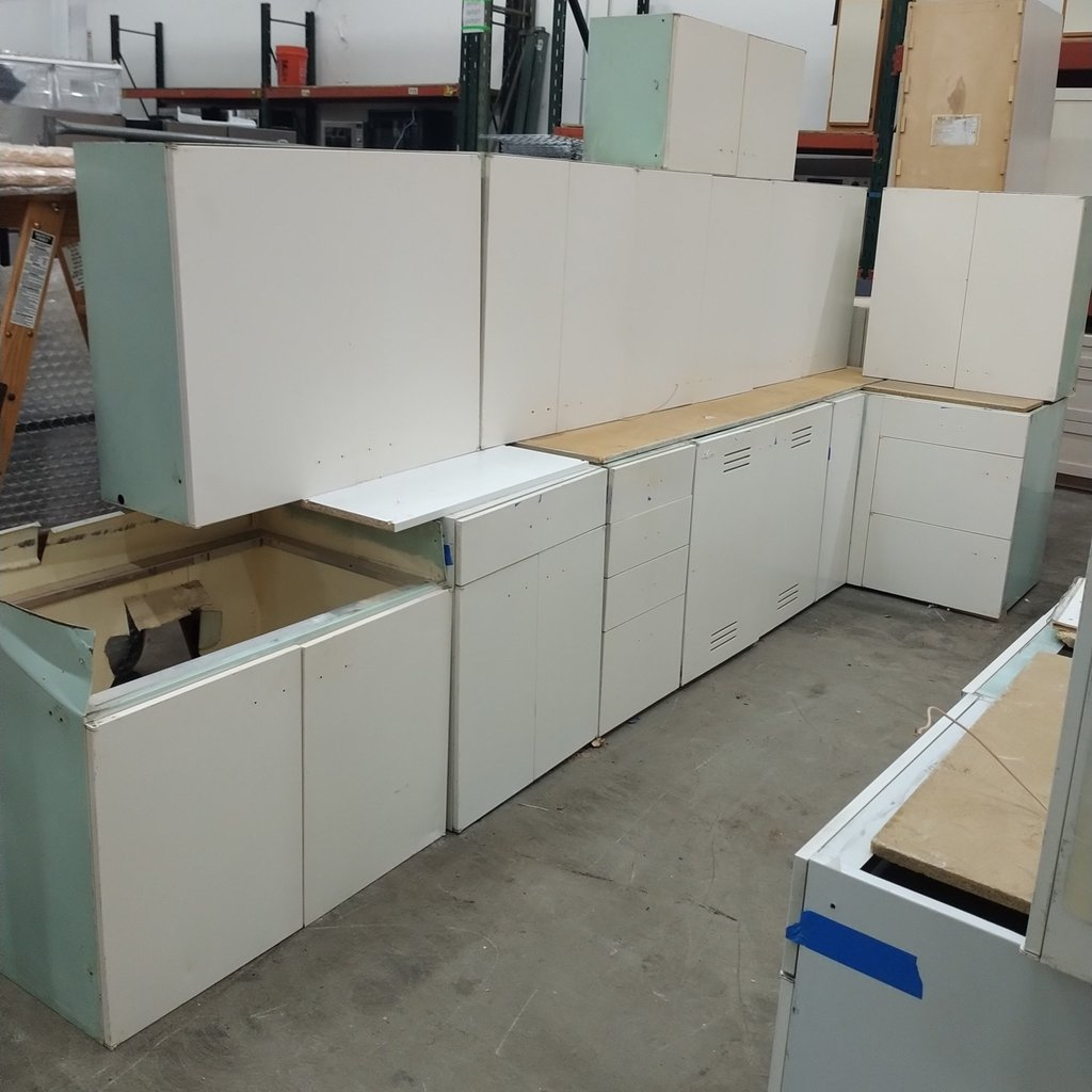 St. Charles Mid-Century Steel Cabinet Set