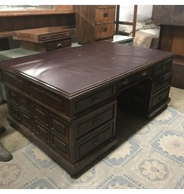 Leather Top Antique Executive Desk