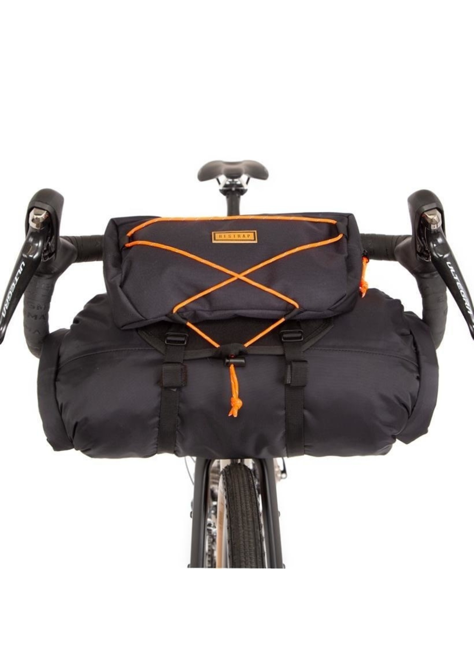 Restrap Restrap Bar Bag, Black/Orange, 14L