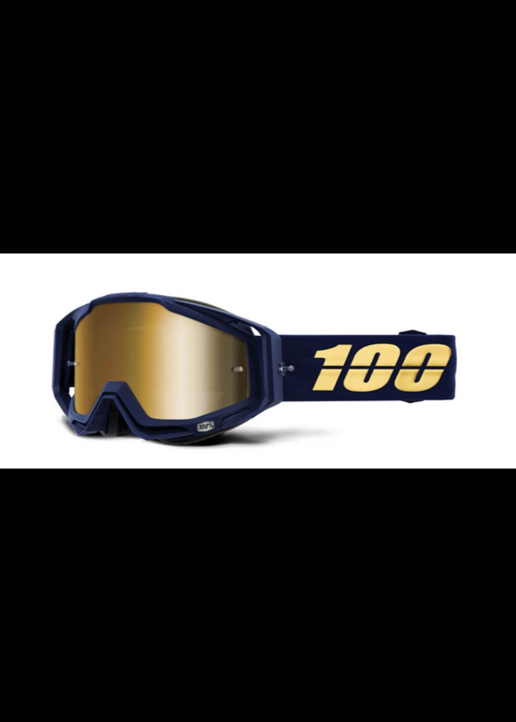 100% 100% Racecraft Goggle Bakken - Mirror True Gold Lens
