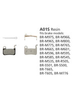 Shimano Shimano, Y8EP98010, A01S, BR-M775, Patins de freins a disque, Resine, Paire, A type
