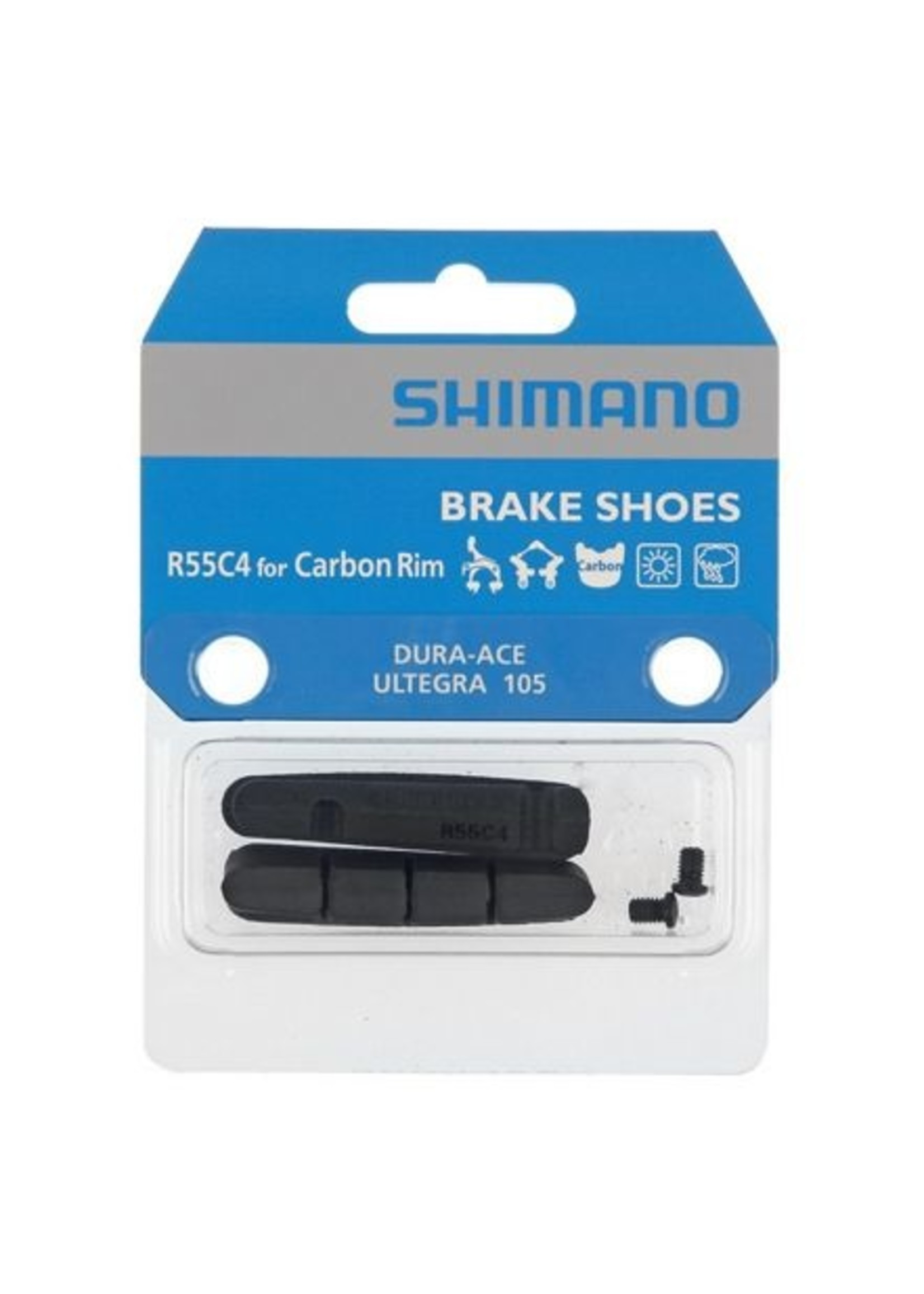 Shimano R55C4 BRAKE SHOES & FIXING BOLTS FOR CARBON RIM