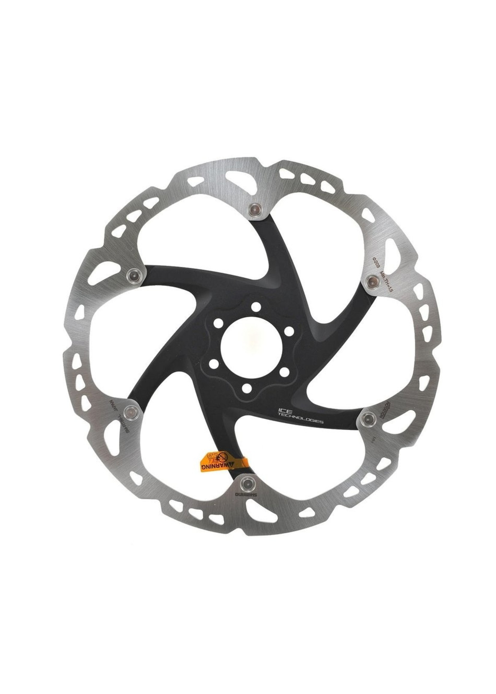 Shimano ROTOR FOR DISC-BRAKE, SM-RT86, L 203MM 6-BOLT TYPE,