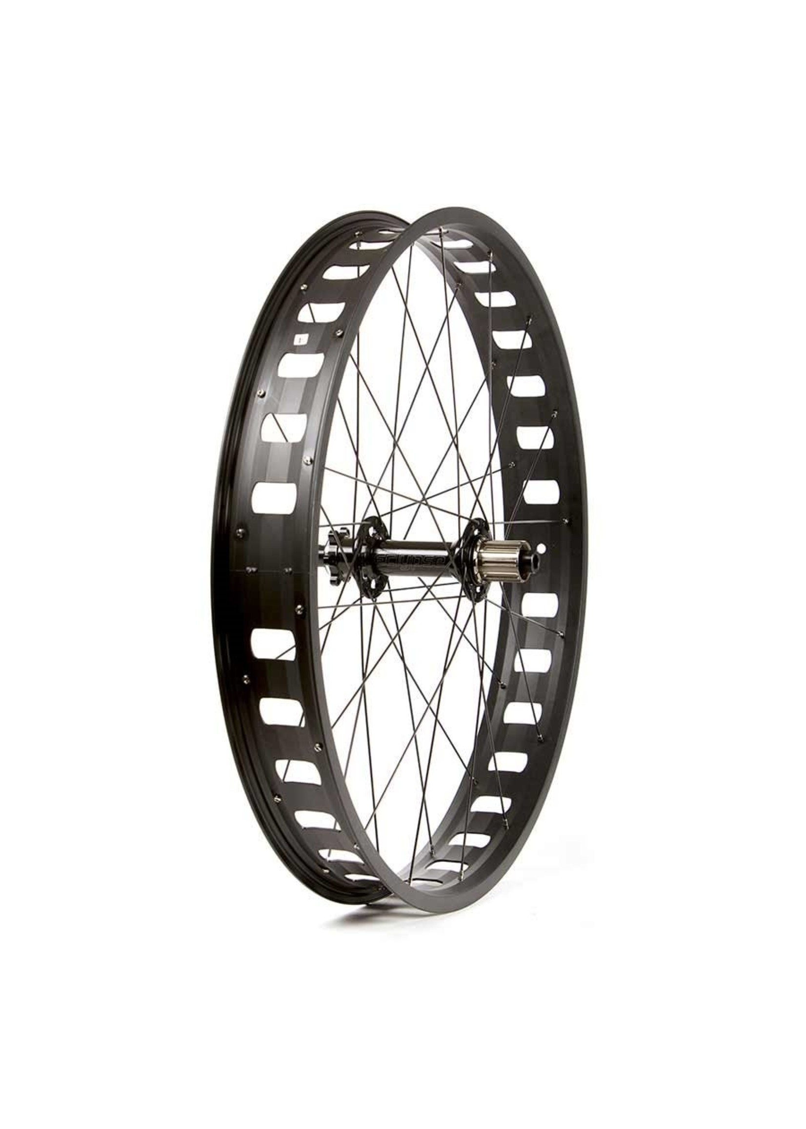Wheel Shop, Evo JP73 Black/ Novatec D202SB, Wheel, Rear, 26'' / 559, Holes: 32, 12mm TA, 197mm, Disc IS 6-bolt, Shimano HG