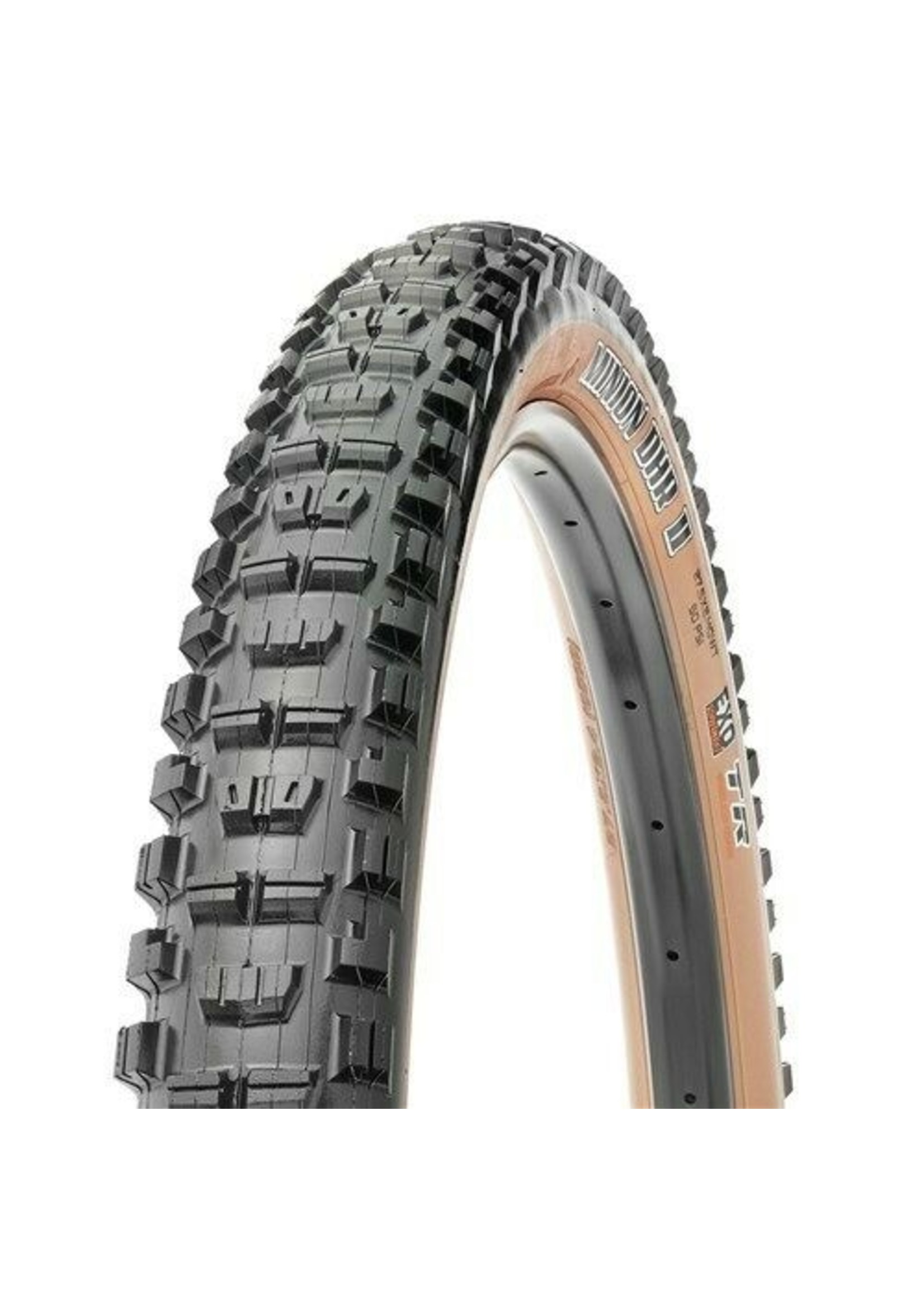 Maxxis Maxxis, Minion DHR2, Tire, 27.5''x2.40, Folding, Tubeless Ready, Dual, EXO, Wide Trail, 60TPI, Tanwall