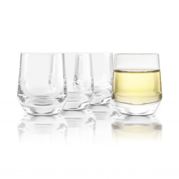 Final Touch Set of 4  Crystal Saké Glasses