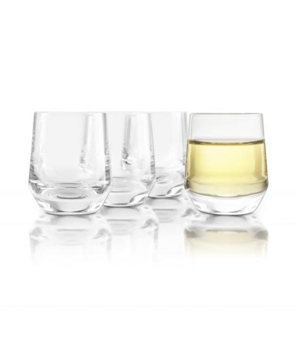 Final Touch Final Touch Set of 4 Crystal Saké Glasses