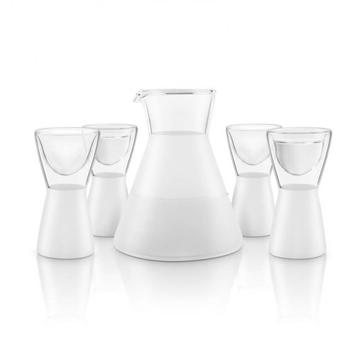 Final Touch Final Touch 5 Piece Frosted Saké Decanter Set