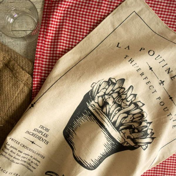 "Whaaatstudio ""Poutine"" Tea Towel"