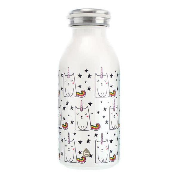 """BOP! Bouteille d'eau isolée  """" chaton licorne"""" de Grosche pour enfants"""