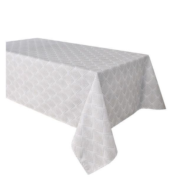 "TexStyles Deco Printed Tablecloth ""Chevron Grey"" 58 x 108"""