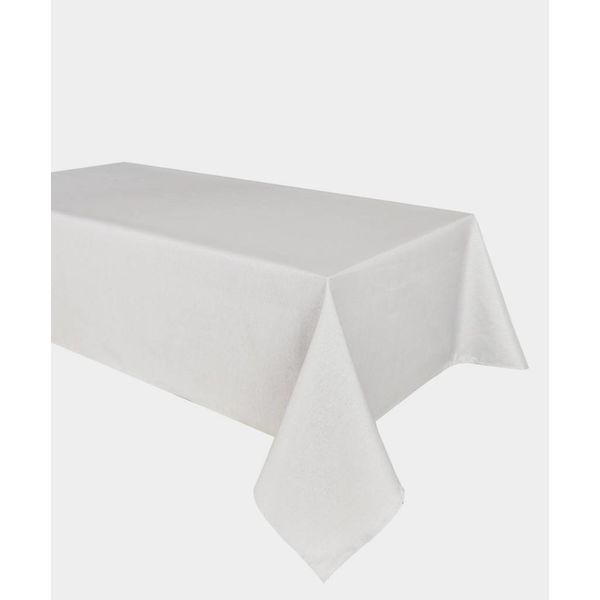 """TexStyles Deco Printed Tablecloth """"Shimmer White"""" 60 x 120"""""""