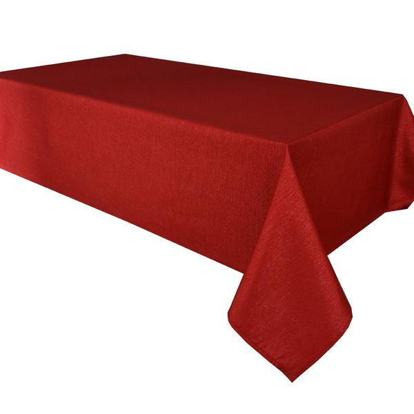 "TexStyles Deco Printed Tablecloth ""Shimmer Red"" 60 x 108"""