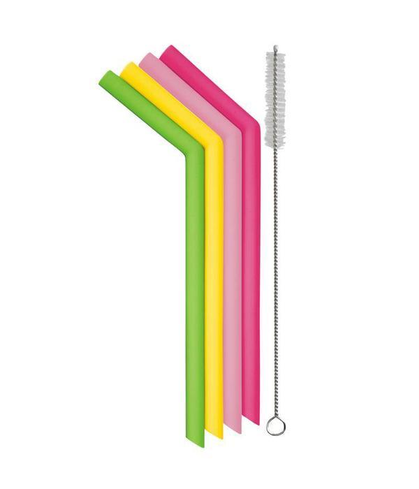 Danesco Danesco Reusable Silicone Smoothie Straws