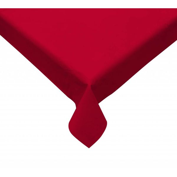 TexStyles Deco Round Red Vinyl Tablecloth 60""