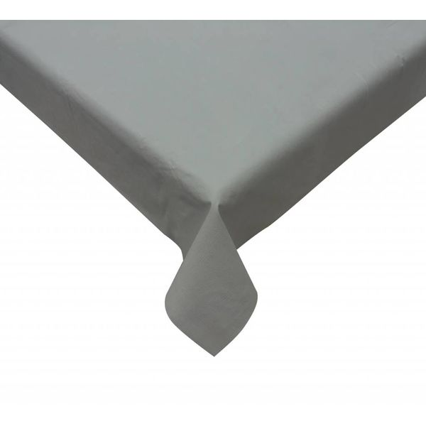 TexStyles Deco  Grey Vinyl Tablecloth 60 x 84""