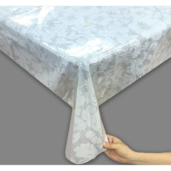 TexStyles Deco Vinyl Super Clear Tablecloth  60 x 102""