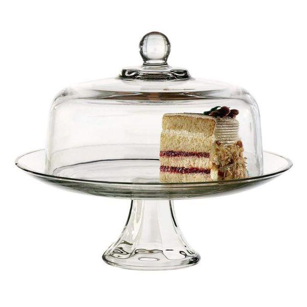 """Assiette à gâteau et cloche en verre """"Presence"""""""