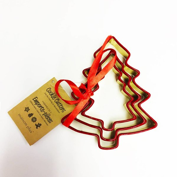 "Maison Plus Set of 3 Christmas Cookie Cutter ""Tree"""