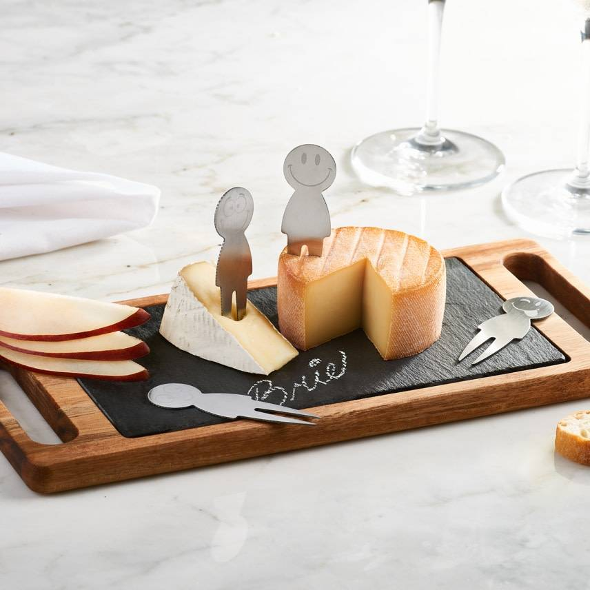 Trudeau 6pc Smiley Cheese Board Set Gift Ideas Christmas 2018 Ares Kitchen And Baking Supplies
