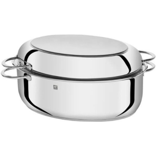 Zwilling J.A. Henckels ZWILLING Plus Series 15″ Multi-Use Oval Roaster with Rack and Lid