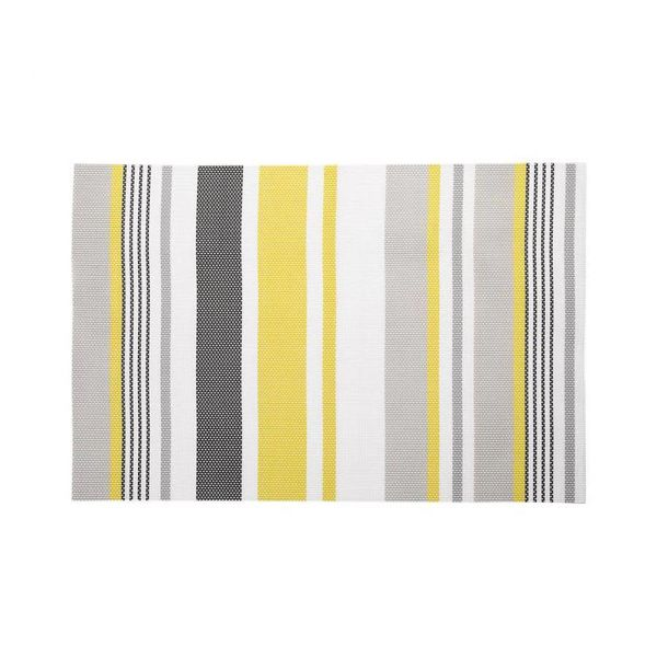 Ricardo Placemat with yellow and grey stripes
