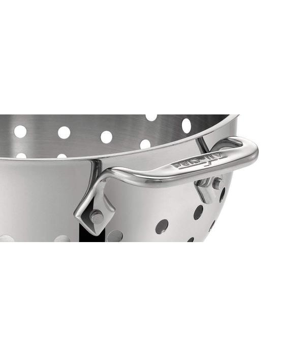 All-Clad All-Clad 5605C Stainless Steel Dishwasher Safe Colander Kitchen Accessory, 5-Quart, Silver