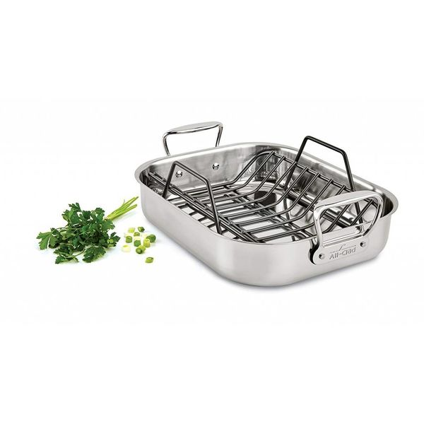 "All-Clad Stainless Steel 11x14"" Roast Pan with Rack"