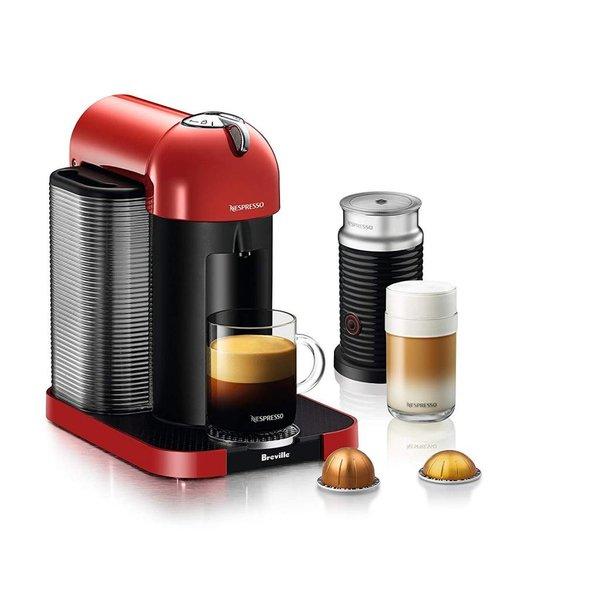Machine à capsules Vertuoline avec Aeroccino de Nespresso (rouge)