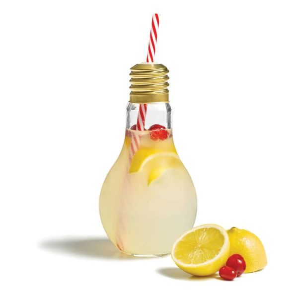 Starfrit Drinking Bottle with Straw - Light Bulb Design