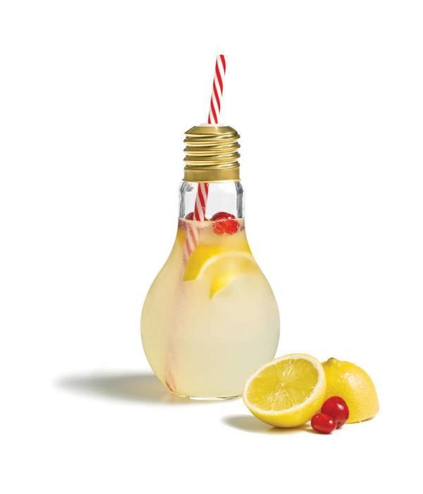 Starfrit Starfrit Drinking Bottle with Straw - Light Bulb Design