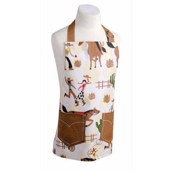 Tablier en coton laminé ajustable pour enfant (Motif cowboy) de Danica