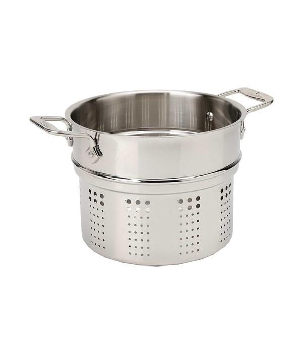 All-Clad All-Clad E414S6 Stainless Steel Pasta Pot and Insert Cookware, 6-Quart, Silver