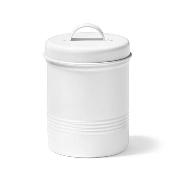 Contenant pour aliments blanc en métal de 3 litres Ricardo