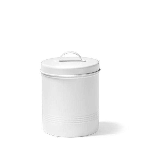 Ricardo Contenant pour aliments blanc en métal de 1,6 litre Ricardo