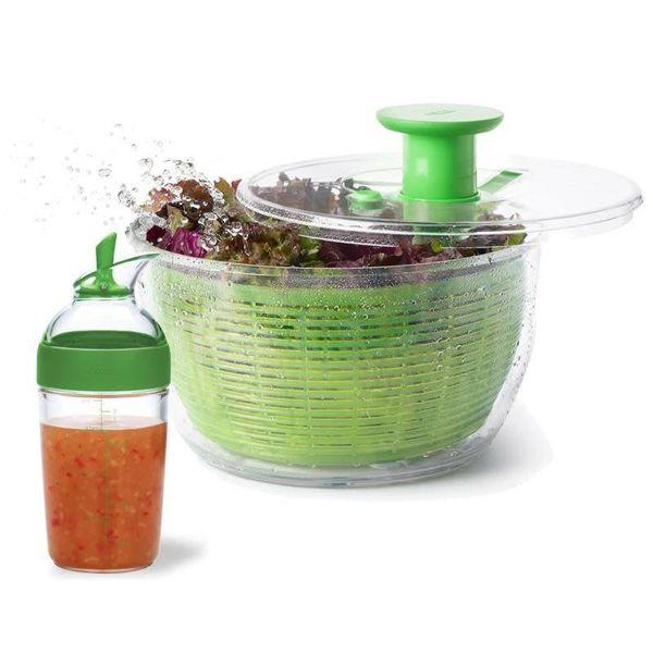 Essoreuse à salade et bouteille à vinaigrette de Oxo