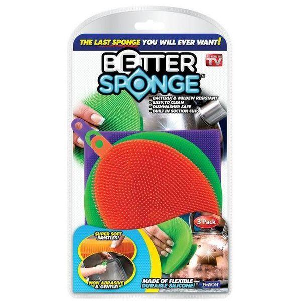 """Ensemble de 3 éponges """"meilleur éponge"""" en silicone de Better Sponge"""