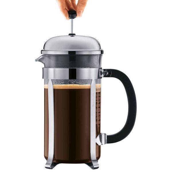 Cafetière à piston Chambord de BODUM - 8 tasses - Noir