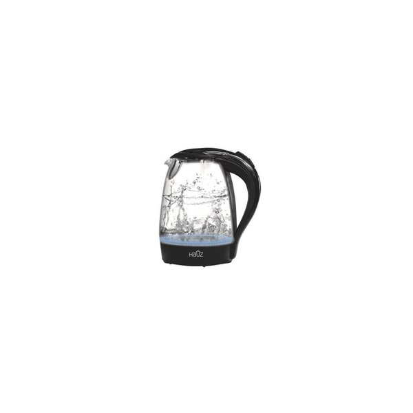 Hauz Blue LED Illuminated Glass Kettle 12 Cups 1.7L